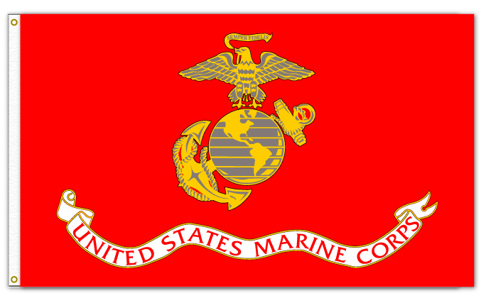US MARINE CORPS FLAG  Red Wagon Patches 7f62cf2a6d5