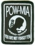 POW-MIA You Are Not Forgotten Patch