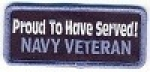 Proud To Have Served! Navy Veteran Patch
