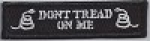 Gadsden - Don't Tread On Me(Black with Black Border) Patch 3.5 x.83