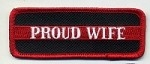 Proud Wife Patch Red Border