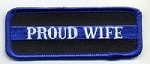 Proud Wife Patch Blue Border