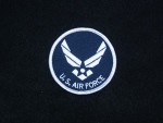 US Airforce Round w/Hap Wings patch