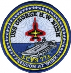 USS GEORGE H.W. BUSH CVN 77 PATCH