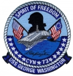 USS GEORGE WASHINGTON CVN 73 PATCH