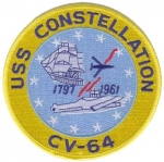USS CONSTELLATION(CV-64) PATCH
