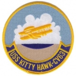 USS KITTY HAWK (CV-63) PATCH