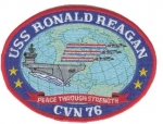 USS RONALD REAGAN CVN 76 PATCH