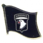 "ARMY,101ST A/B FLAG (1"") PIN"