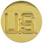 "ARMY,ENL,US,LETTERS (GLD) (1-1/16"") PIN"