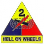 "ARMY,002ND ARM.DIV. HELL ON WHEELS (1"") PIN"