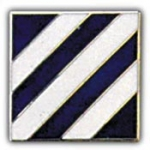 "ARMY,003RD INF.DIV. (NIKEL PLATED) (1"") PIN"