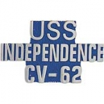 "USS,INDEPENDENCE(SCRIPT) (1"") PIN"