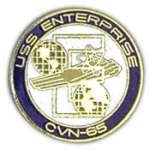 "USS,ENTERPRISE (1"") PIN"