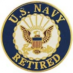 "USN LOGO,RETIRED (15/16"") PIN"
