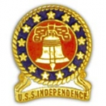 "USS,INDEPENDENCE (1"") PIN"