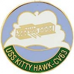 "USS,KITTY HAWK (1"") PIN"