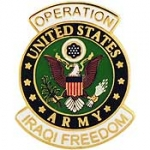 "IRAQI FREED,ARMY LOGO (1-1/16"")"