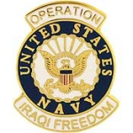 "IRAQI FREED,USN LOGO (1-1/16"") PIN"