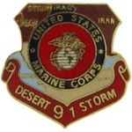 "DESERT.STORM,USMC,MAP (1"") PIN"