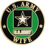 "ARMY LOGO,WIFE (1"") PIN"