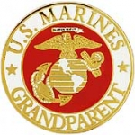 "USMC LOGO,GRANDPARENT (15/16"") PIN"