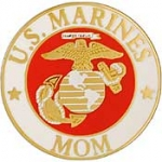 "USMC LOGO,MOM (15/16"") PIN"