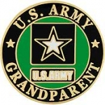 "ARMY LOGO,GRANDPARENT (1"") PIN"