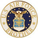 "USAF EMBLEM,BROTHER (15/16"") PIN"