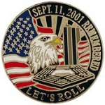 "USA,911,LET'S ROLL (1"") PIN"