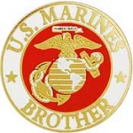 "USMC LOGO,BROTHER (15/16"") PIN"