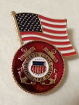 "USCG LOGO,W/USA FLAG (1-1/4"") PIN"
