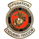 "ENDURING .FREEDOM,USMC LOGO (1-1/16"") PIN"