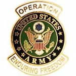 "ENDURING.FREEDOM ,ARMY LOGO (1-1/16"") PIN"