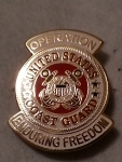 "ENDURING .FREEDOM ,USCG LOGO (1-1/16"")PIN"