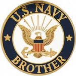 "USN LOGO,BROTHER (15/16"") PIN"