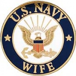 "USN LOGO,WIFE (15/16"") PIN"