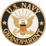 "USN LOGO,GRANDPARENT (15/16"") PIN"