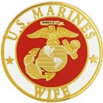 "USMC LOGO,WIFE (15/16"") PIN"