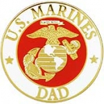 "USMC LOGO,DAD (15/16"") PIN"