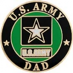 "ARMY LOGO,DAD (1"") PIN"