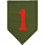ARMY,001ST INF.DIV. PATCH (BIG RED 1)