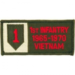 VIET,BDG,USAR,001ST 1965-1970 PATCH