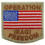 IRAQI FREEDOM USA FLAG PATCH (DESERT)