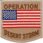 DESERT.STORM,USA FLAG PATCH