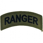US Army Ranger Tab Subdued Patch