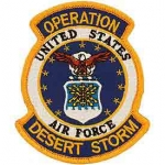 DESERT.STORM,USAF SHIELD PATCH