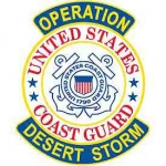 DESERT.STORM,USCG SHIELD PATCH