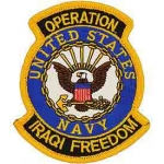 IRAQI FREED.USN SHIELD PATCH