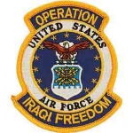 IRAQI FREED.USAF SHIELD PATCH